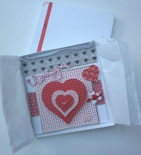 Valentines Card Handmade Luxury Card with Heart Costume Ring Boxed Keepsake